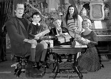 The Munsters Family PHOTO Christmas Publicity Pic TV Show Spooky Scary Creepy