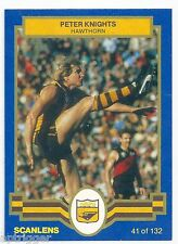 "1986 Scanlens (41) Peter KNIGHTS Hawthorn "" Mint """