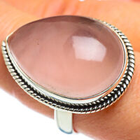 Huge Rose Quartz 925 Sterling Silver Ring Size 9 Ana Co Jewelry R46641F