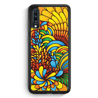 Blumen Muster Bunt Samsung Galaxy A40 Silikon Hülle Motiv Design Mädchen Frau...