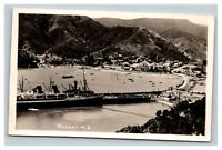 Vintage 1910's Photograph Ships in the Harbor of Picton New Zealand