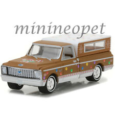 GREENLIGHT 37120 D 1972 CHEVROLET C-10 PICK UP TRUCK w CAMPER SHELL 1/64 BROWN