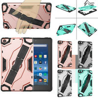 """For Amazon Fire 7 2019 9th Gen 7"""" Tablet Rubber Armor Hard Case Protective Cover"""