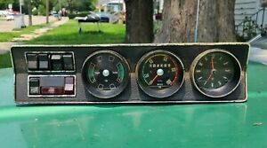 OPEL GT KADETT RALLYE DASHBOARD Speedometer Cluster With Clock and Switches