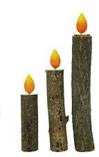"""Decorazioni Natale, legno, """"Candela"""", disponibili in tre misure"""