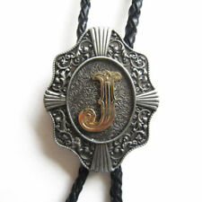 """Initial Letter """"J"""" Western Cowboy Rodeo Bolo Tie"""