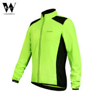 Windproof Cycling Jacket Reflective MTB Road Bike Sports Jersey Tops Mens Green