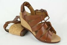 a5e11f7e515b New Clarks Women s Helio Mindin Lace Up Sandals Size 6m Tan Brown