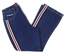 cdc6f1d8714fd Revolt Jeans Womens Plus Size High Waist Retro Racing Stripe Jeans