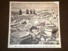 Terra Santa Cafarnao Pellegrini pregano sulle rovine Galilea
