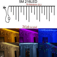 Icicle Hanging Curtain Fairy Wall String Lights Christmas Wedding Party LED Lamp