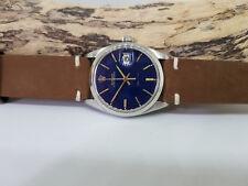 Rara Vintage Rolex Oysterdate 6694 Reloj de Hombre Esfera Azul