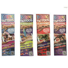 Magic Tattoos | Come to Life with App | 4 Tattoo's Per Pack | 1 pack supplied