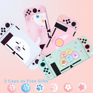 Kawaii Cat Pink Hard Case Cover for Nintendo Switch Console Jon-Cons