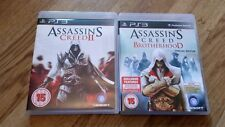 2 PS3 GAMES ASSISSINS CREED 2 II & BROTHERHOOD SONY PLAYSTATION 3 VGC COMPLETE