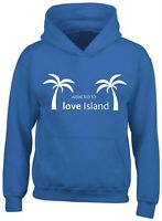 Addicted To Love Island Printed Hoodie TV Show Reality Dating Heart Summer Love