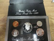 1997 U.S. MINT SILVER PROOF SET - ORIGINAL GOVERNMENT PACKAGING WITH CERTIFICATE