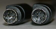 MDin8 Mini-Din 8 pin Male-Male 25 ft Cable Black Color