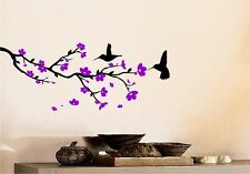 Flowering Branches And Hummingbirds - Wall Decal Flower Sticker Wall Art Decor