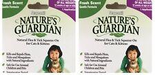 Safe Flea Tick Treatment Sergeants Nature's Guardian All Natural Cat Kittens Lot