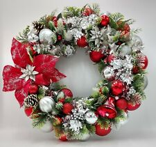 Vintage Holiday Cheer Christmas Ornament Wreath