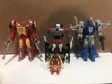 Transformers Titans Return Lot Rodimus Highbrow Twinferno Repugnus Complete