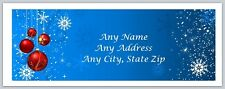 Personalized Address labels Christmas Baubles Buy 3 get 1 free (ac 455)