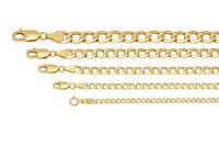 "Brand New 14k Yellow Gold Cuban Curb Link Chain Necklace 2mm-6mm Sz 16"" - 30"""