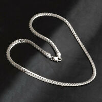 Men & Women Fashion 5MM 925 Sterling Silver Necklace Pendant Chain Jewelry 20""