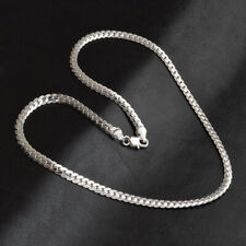 Men & Women Fashion 5MM 925 Sterling Silver Necklace Pendant Chain Jewelry 20