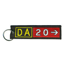 Diamond Aircraft DA20 Airport Taxiway Sign Embroidered Keychain. Aviation gift