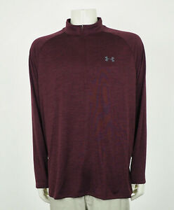 Under Armour UA Tech Dark Red Loose Pullover Shirt Mens 2XL XXL