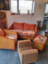 Cane Furniture Suites with Footstool