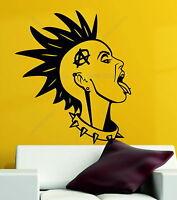 Anarchy Girl Punk Rock Rebel Goth Music Emo Decorative Vinyl Wall Sticker Decal