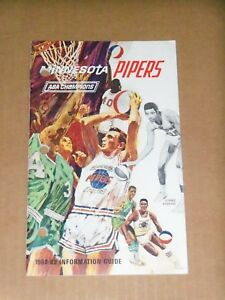 1968 Minnesota Pipers (ABA) Media Guide, Formerly Pittsburgh, Connie Hawkins
