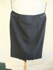 "Ladies Skirt Debenhams UK 10, black formal, length 25"", lined, small pleats 0598"