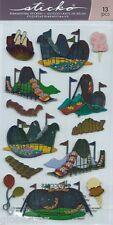 Stickers 3d en relief et métallisés marque Sticko Roller Coaster Montagne Russe