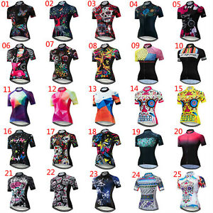 Women's Reflective Cycling Jersey Short Sleeve Bicycle Clothing Cycle Jersey Top