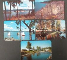 Lot 5- Deep Creek Motel, Coeur D'Alene Lake, Early Petroglyphs Idaho Postcards
