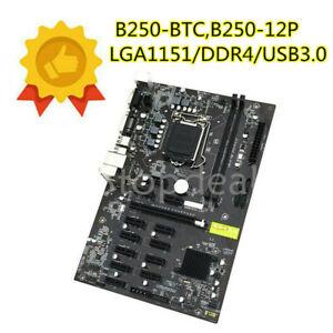 B250-BTC 12 Card 12GPU 12PCI-E Mining Board B250-12P LGA1151 DDR4 Motherboard 1P