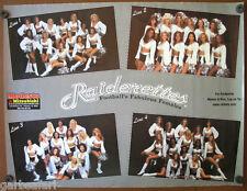 Oakland Raiders Raiderettes Cheerleaders Poster 1997 Modesto Car Dealership NFL