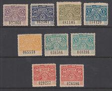 Argentina, Santa Fé, 1921 Comision de Fomento Fiscals, 9 Talon & Control halves