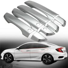 For 2016-2019 Honda Civic Chrome Door Handle Covers With Smartkey