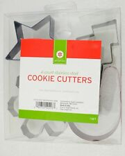 4 Count Stainless Steel Cookie Cutters
