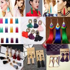 Women Fashion Bohemian Earrings Vintage Boho Long Tassel Fringe  Dangle Earrings
