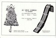 Publicité ancienne bijoux au vieux cadran 1965 issue de magazine