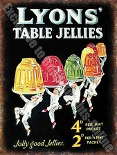 Vintage Food, 82, Lyon's Jelly, 50's Cafe Kitchen Old Shop, Small Metal/Tin Sign