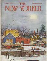 1973 New Yorker January 6  - Winter arrives in Mystic