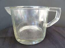 "Vintage Primitive 4.5"" tall syrup/milk restaurant depression clear glass pitcher"