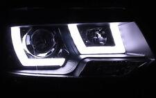 SCHEINWERFER SCHWARZ VW T5 GP 09- ECHTES LED TAGFAHRLICHT UBAR TÜV-FREI +MOTORE